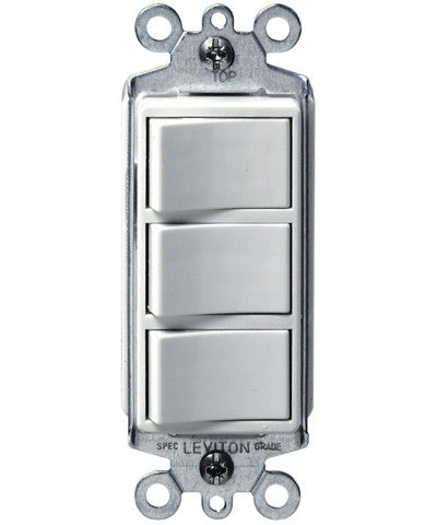 15 Amp, 120 Volt, Decora Single-Pole, AC Combination Switch, Commercial Grade, Non-Grounded, 1755
