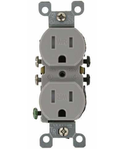 15 Amp 125 Volt, Weather and Tamper Resistant, Duplex Receptacle, Grounding, Side and Quickwire, W5320-T0 - Leviton - 1