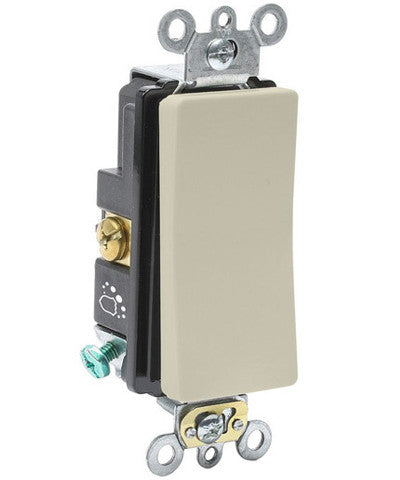antimicrobial treated decora plus switch, 20-amp, 120/277-volt,