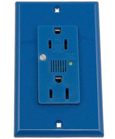 15 Amp, 125 Volt, Decora Plus Duplex Surge Suppressor Receptacle, Straight Blade, Industrial Grade, Self Grounding, with Indicator Light, Various Colors, 7280 - Leviton - 1