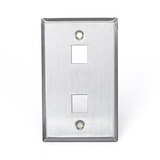 Stainless Steel QuickPort Wallplate, Single Gang, 43080