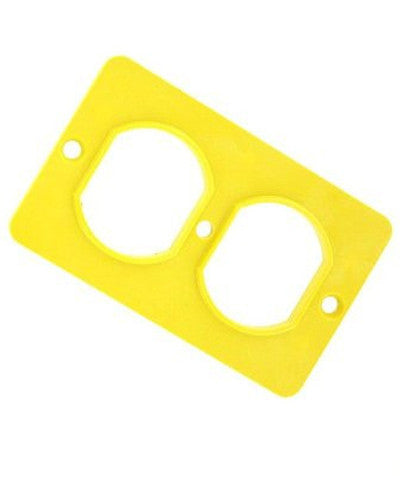 Coverplate, Standard, Single-Gang, Thermoplastic, Duplex Receptacle, Yellow, 3051-Y - Leviton