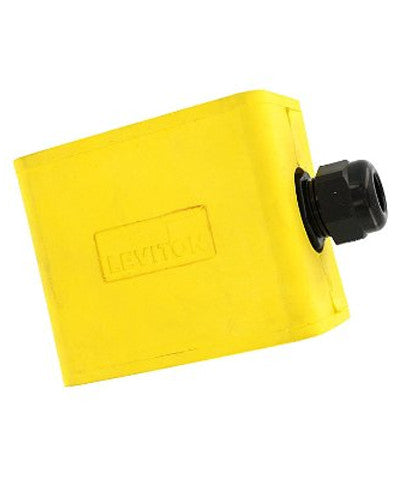Portable Outlet Box, Single-Gang, Standard Depth, Feed-Thru Style, Yellow, 3059-1Y - Leviton