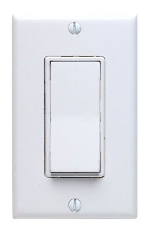 15 Amp, 277VAC Switch Standard, Quiet Rocker, Matching Decora wallplate, Residential Grade, Grounding, White, 5671-2W