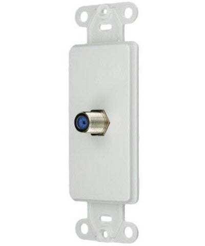 Decora Insert, F connector, White, 40681-W - Leviton