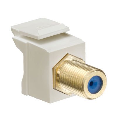 Feedthrough QuickPort F-Connector, Gold Plated, Ivory Housing, 40831-FIG