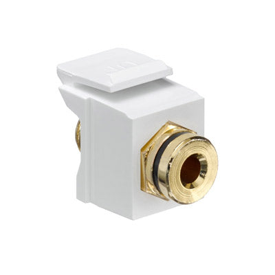Banana Jack QuickPort Connector, Gold-Plated, 40837