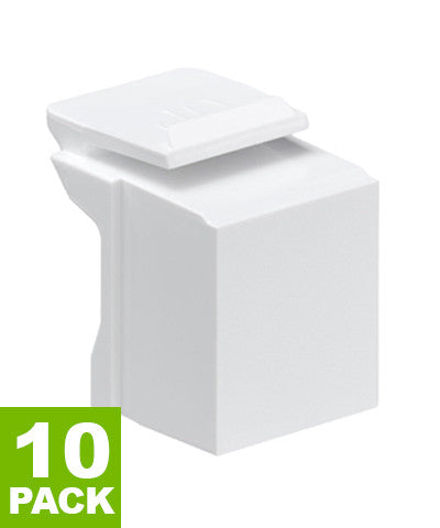 Blank QuickPort Insert, 10-Pack, White, 41084-0BW - Leviton
