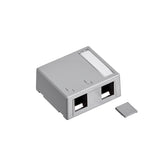 Surface-Mount QuickPort Box, Plenum-Rated, 2-Port, 41089