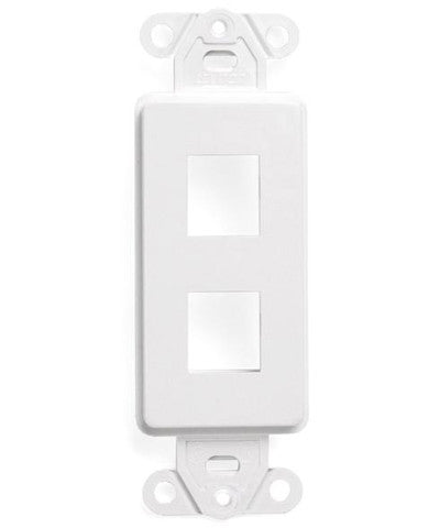 QuickPort Decora Insert, 2-Port, White, 41642-W - Leviton