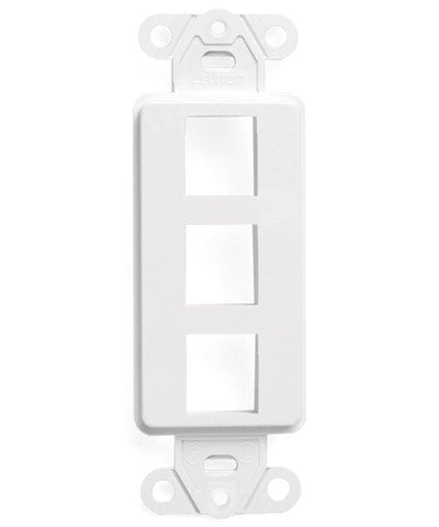 QuickPort Decora Insert, 3-Port, White, 41643-W - Leviton