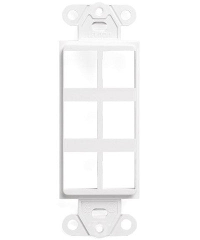QuickPort Decora Insert, 6-Port, White, 41646-W - Leviton
