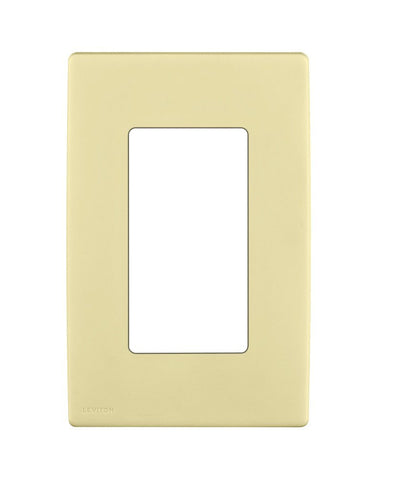 Renu 1-Gang Screwless Snap-On Wall Plate, REWP1 - Leviton - 2