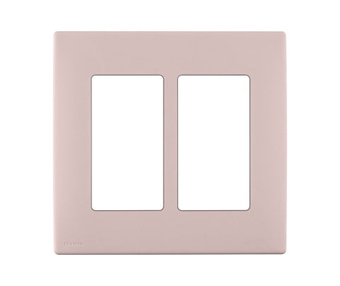Renu 2 Gang Screwless Snap On Wall Plate Rewp2 Leviton