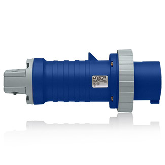 60 Amp, 250 Volt 3-Phase, 3P, 4W, North American-Rated Pin & Sleeve Plug, Industrial Grade, IP67, Watertight - BLUE, 460P9W