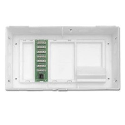 Multi Dwelling Unit, MDU Kit, Plus 1 X 6 Telephone Expansion Board, ABS Enclosure and Cover, White, 47604-F6 - Leviton
