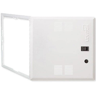 14-Inch Premium Hinged Structured Media Door, Vented, White, 47605-14S - Leviton