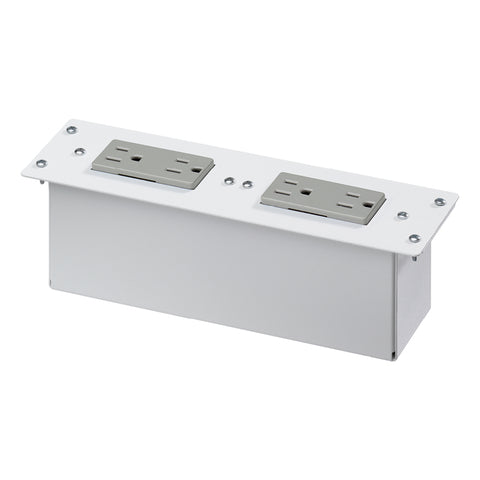 AC Power Module, Two Duplex Gray Receptacles, 47605-NDP