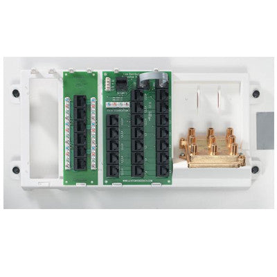 Advanced Home Telephone and Video Panel, White, 47606-AHT - Leviton