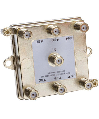 2Ghz Passive Video Splitter, 4, 6, or 8 Way, 47690-G - Leviton - 1