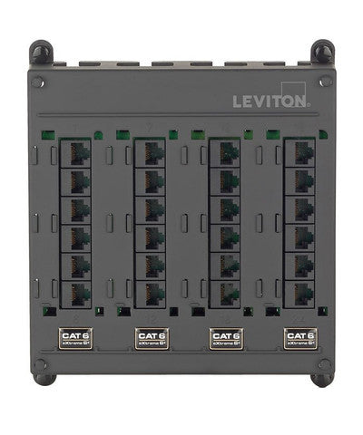 Twist and Mount Patch Panel, 24 CAT 6 Ports, 476TM-624 - Leviton