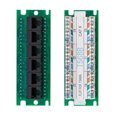 Twist and Mount Expansion Board, 6 Port, Cat 6, 476TM-EX6 - Leviton
