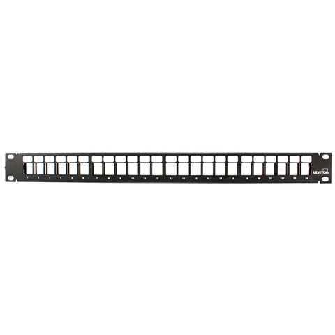QuickPort Patch Panel, 24-Port, 1RU, Cable Management bar included, 49255-H24