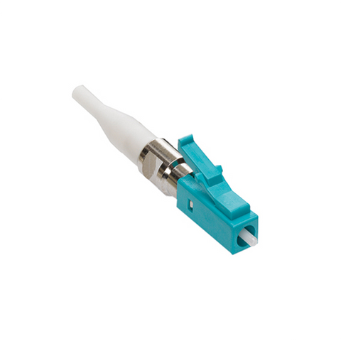 Fast-Cure LC Fiber Optic Connector (Aqua), OM3/4 (Laser Optimized Multimode), for 900µm application, 49990-LDL