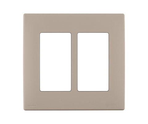 Renu 2-Gang Screwless Snap-On Wall Plate, REWP2 - Leviton - 2