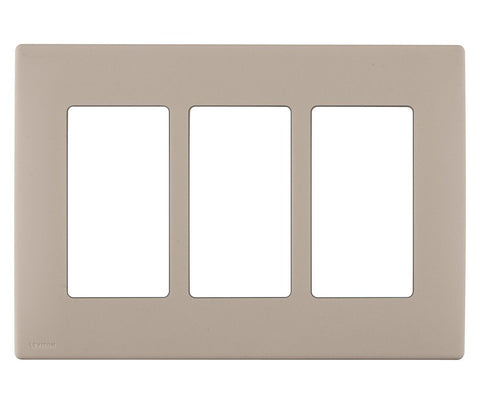 Renu 3-Gang Screwless Snap-On Wall Plate, REWP3 - Leviton - 2