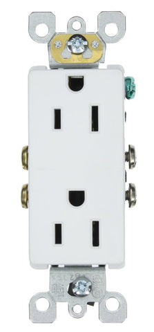 15 Amp 125 Volt, Decora Duplex Receptacle, Residential Grade, Self Grounding, Various Colors, 5325-S - Leviton - 2