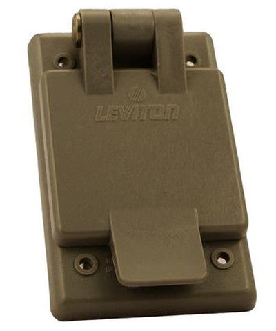 15 Amp, 125 Volt, Power Inlet Receptacle, Straight Blade, Industrial Grade, Grounding, Gray, 5278-FWP - Leviton