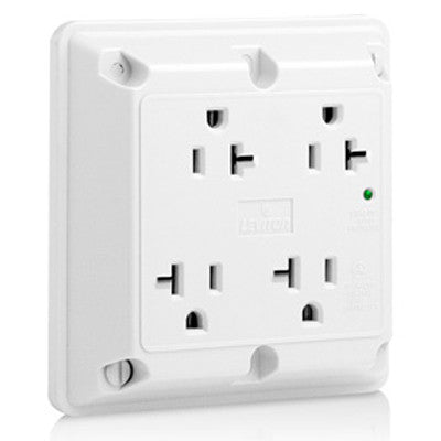 20Amp, 125V, Surge Industrial Grade, 4-In-1 Quad Receptacle, 5490-W ...