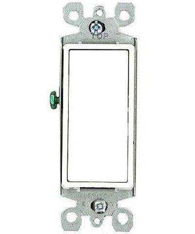 15 Amp 120/277 Volt, Decora Rocker Single-Pole AC Quiet Switch, Residential Grade, Grounding, Various Colors, 5601-2 - Leviton - 1