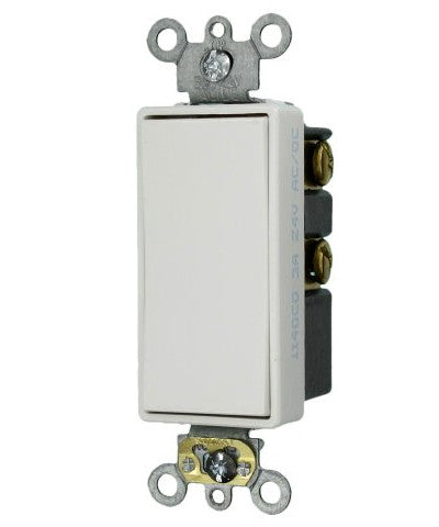 3 Amp, 24 Volt, Decora Plus Rocker Double-Throw Ctr-OFF Momentary Contact Single-Pole AC Quiet Switch, Commercial Grade, Self Grounding, 56081-2 - Leviton - 1