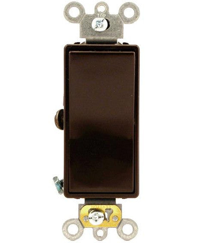 20 Amp, Decora Plus Rocker Single-Pole AC Quiet Switch, 120/277 Volt, Commercial Grade, Back and Side Wired, Grounding, Various Colors, 5621-2 - Leviton - 1