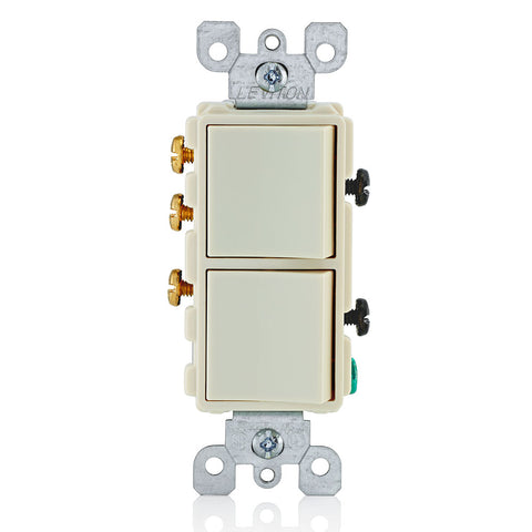 15-Amp, 120/277-Volt, Decora Single-Pole / 3-Way AC Combination Switch, Commercial Grade, Grounding, 5641