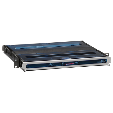 2000i SDX 1RU Fiber Enclosure, empty, with sliding tray; Accepts up to (3) SDX adapter plates and splice trays or (3) SDX MTP cassettes, 5R1UH-S03