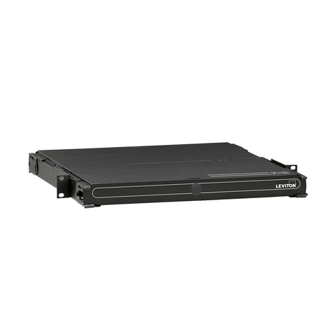 1000i SDX 1RU Distribution and Splice Enclosure, empty, (no sliding tray); Accepts up to (3) SDX adapter plates or (3) SDX MTP cassettes and accepts up to (3) splice trays, 5R1UM-F03