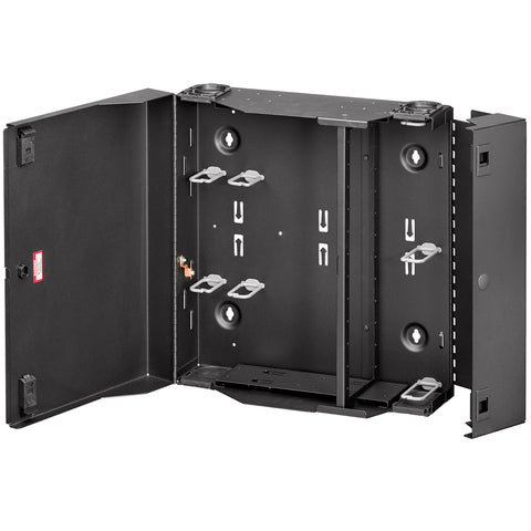Large SDX Wall-Mount Fiber Enclosure, empty with dual door, no lock, 5WLRG-12C