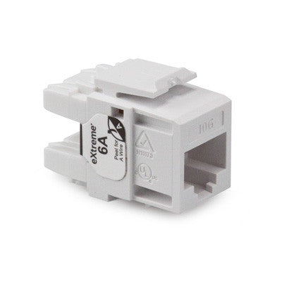 eXtreme Cat 6A QuickPort Connector, Channel-rated, 6110G-R