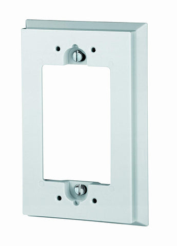 Shallow Wallbox Extender for GFCI/Decora Device, White, 6197-W