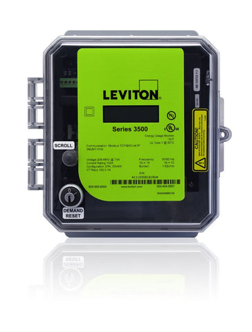VerifEye Series 3500 Modbus TCP/BACnet IP Outdoor Meter Kit with 3 Split Core CT's, 3OUMT-XXM - Leviton - 2