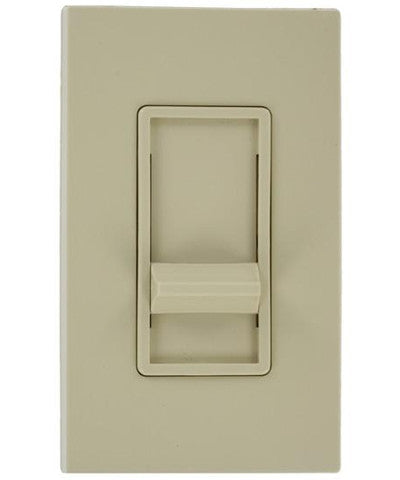 SureSlide 500W Dimmer for Mark 10 Powerline, 350W Philips Marathon or dimmable CFL, Single Pole, Ivory, 6668-1I - Leviton