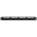 Cat 6 Universal Patch Panel, 24-Port, 1RU. Cable management bar included, 69586