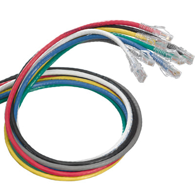 eXtreme Cat 6 SlimLine Boot UTP Patch Cord, Various Sizes and Colors, 6D460