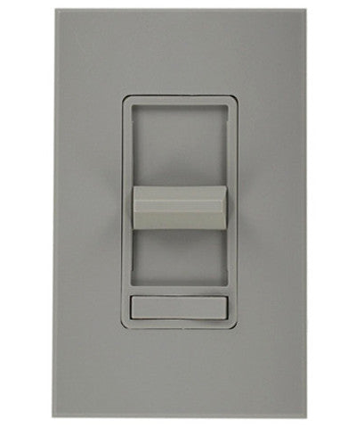 1000Va 800W, Single-Pole, Renoir Preset Electro-Mechanical Magnetic Low-Voltage Slide Dimmer, Narrow Fin, Gray, 71111-GY - Leviton