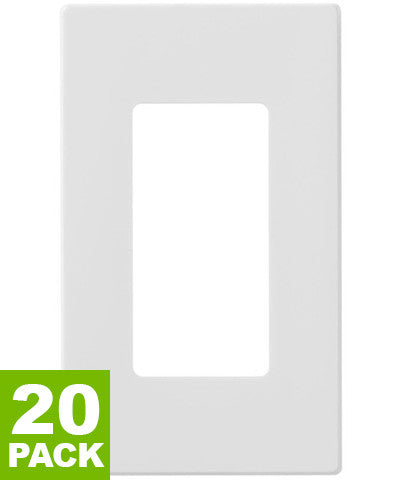 1-Gang Decora Plus Wall Plate, Screwless, Snap-On Mount, Various Colors, 20-Pack, 80301-SW - Leviton - 1