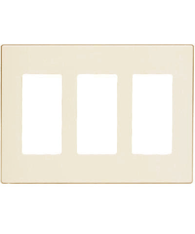 3 Gang Decora Plus Wall Plate Screwless Snap On Mount 80311 S