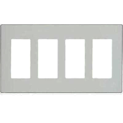 4 Gang Decora Plus Wall Plate Screwless Snap On Mount
